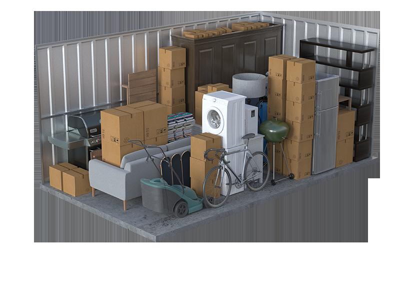 inside storage units