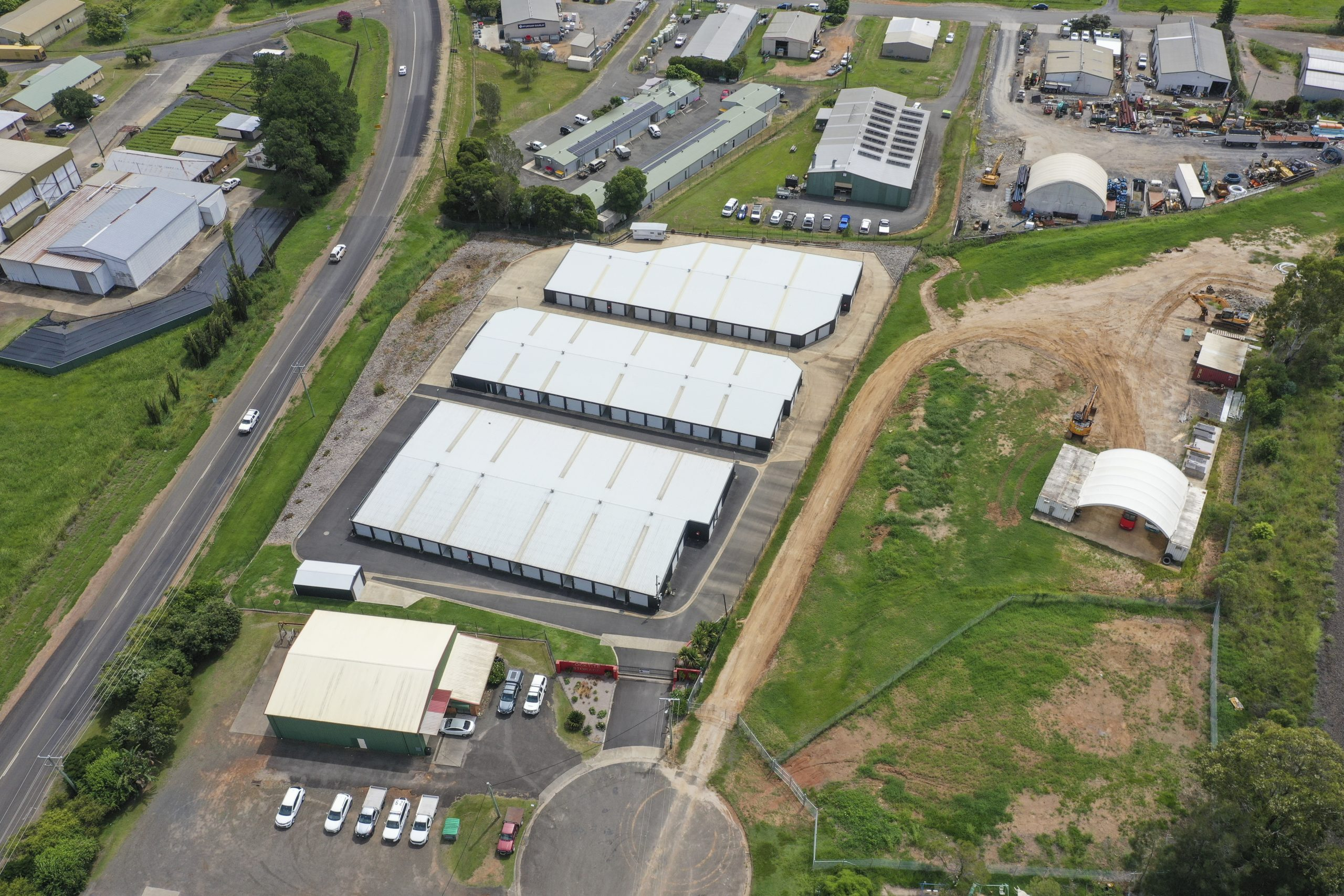 aerial view of storage facility